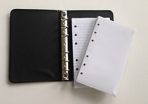 Little Black 6 ring Binder With 3 1 2 X 6 Sheets 2 Packs Of 100 Ruled