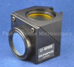 Olympus U mwb Blue Fluorescence Filter Cube For Olympus Bx And Ix Microscope
