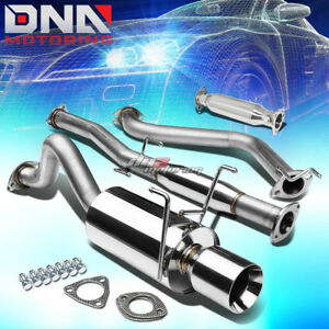 4 Rolled Tip Racing Catback high Flow Pipe Exhaust System For Del Sol Eg Eh6