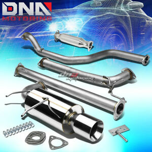 4 Rolled Tip Racing Catback Pipe Exhaust System For 90 93 Integra Da Db B17 B18