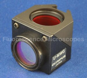 Olympus U mwg Wide Band Green Fluorescence Filter Cube Olympus Bx Microscope