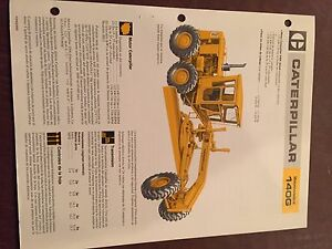 Cat Caterpillar 140 140g Motor Grader Brochure Original Antique Track