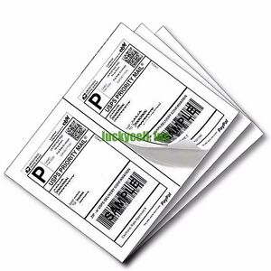 Wood Free Premium Self Adhesive Shipping Labels 2 Per Sheet 8 5x5 5 8 5 X 5 5