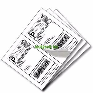 Label 2000 Adhesive Paypal Ebay Shipping Labels Ups Usps 2 Per Sheet 8 5 X 5 5
