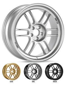 Enkei Rpf1 17x9 Racing Wheel Wheels 5x114 3 Et22 35 45 F1 Silver