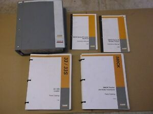5 Service Parts Manuals For Case 580ck Backhoe Fork Lift