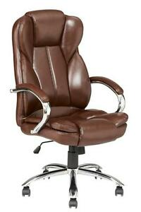 High Back Pu Leather Executive Office Desk Task Computer Chair W metal Base O18r