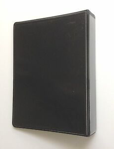Linco Little 3 ring Black View binders 8 1 2 X 5 1 2 Sheet Size 1 inch Pack12
