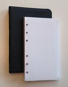 Little Black 6 ring Binder With 3 1 2 X 6 Pack Of 100 Blank Sheets 4 Pack