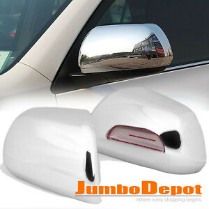 Fit 2008 2013 Toyota Highlander 2011 15 Sienna Chrome Rearview Mirror Cover Trim