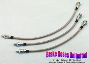 Stainless Brake Hose Set Studebaker Champion 1952 1953 1954 1955 1956 1957 1958