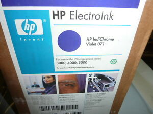 Hp Indigo Electroink For 3000 4000 5000 Presses 4 Cans Q4004a Violet
