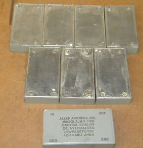 Allen Avionics F3740 1p0 Lowpass Filter Lot F37401p0