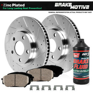 Front Drilled And Slotted Brake Rotors Ceramic Pads Chevy S10 Gmc Envoy Sonoma