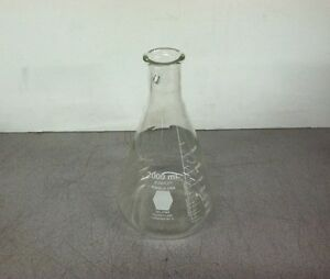 Kimble Kimax No 27065 2000ml Erlenmeyer Filter Flask Pyrex Lab Beaker