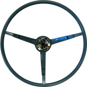 1966 Ford Mustang 3 Spoke Steering Wheel Blue Golden Star