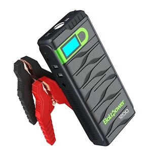 N02 Portable Car Jump Starter Battery Booster Kit With Smart Jumper Cable Usb