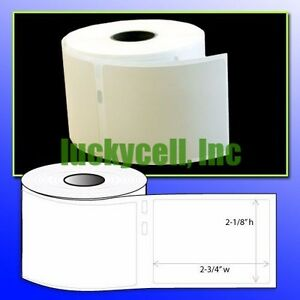 50 Rolls Of 400 Media badge Labels In Cartons For Dymo Labelwriters 30324