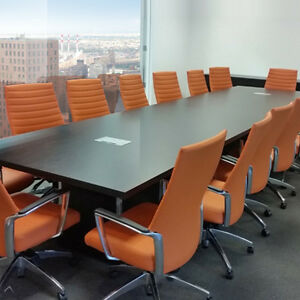 Espresso Modern Conference Room Table 16 Foot Or 7 8 10 12 Ft Boardroom Meetin