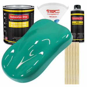 Tropical Turquoise Gallon Kit Single Stage Acrylic Enamel Car Auto Paint Kit