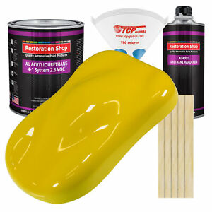 Electric Yellow Gallon Kit Single Stage Acrylic Urethane Car Auto Paint Kit
