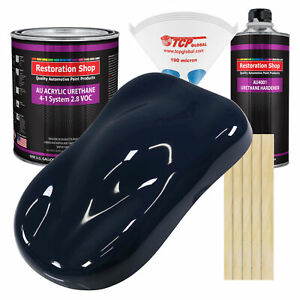 Midnight Blue Gallon Kit Single Stage Acrylic Urethane Car Auto Body Paint Kit