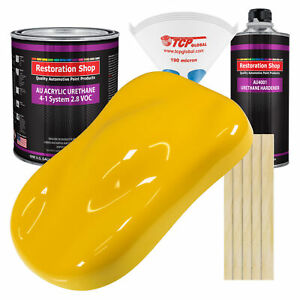 Viper Yellow Gallon Kit Single Stage Acrylic Urethane Car Auto Body Paint Kit