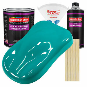Deep Aqua Gallon Kit Single Stage Acrylic Urethane Car Auto Body Paint Kit