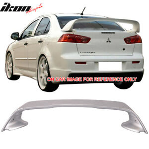 Fits 08 17 Mitsubishi Lancer Evo X 10 Trunk Spoiler Painted Apex Silver A31