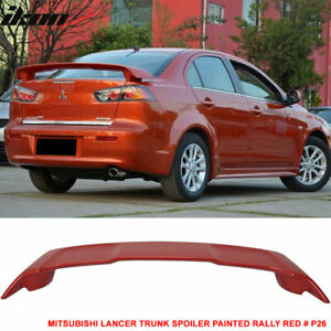 Fit For 08 17 Mitsubishi Lancer Oe Trunk Spoiler Painted Rally Red P26 Abs