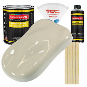 Olympic White Gallon Kit Single Stage Acrylic Enamel Car Auto Body Paint Kit