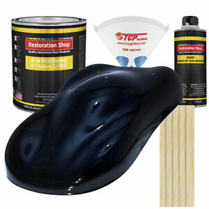 Dark Midnight Blue Pearl Gallon Kit Single Stage Acrylic Enamel Auto Paint Kit