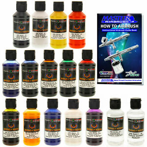 House Of Kolor 4oz 14 Color Kit W Kandy Graphic Metallic Pearl Base Paint