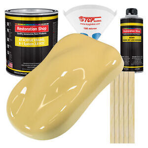 Springtime Yellow Gallon Kit Single Stage Acrylic Enamel Car Auto Paint Kit