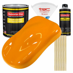 Speed Yellow Gallon Kit Single Stage Acrylic Enamel Car Auto Paint Kit