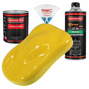 Daytona Yellow Quart Kit Single Stage Acrylic Lacquer Car Auto Body Paint Kit