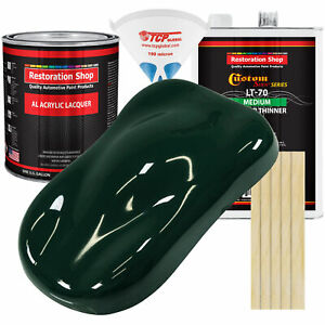 British Racing Green Gallon Kit Single Stage Acrylic Lacquer Car Auto Paint Kit