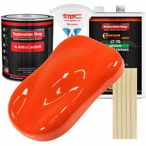 Speed Orange Gallon Kit Single Stage Acrylic Lacquer Car Auto Paint Kit