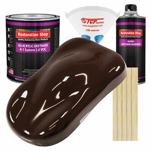 Dark Brown Gallon Kit Single Stage Acrylic Urethane Car Auto Body Paint Kit