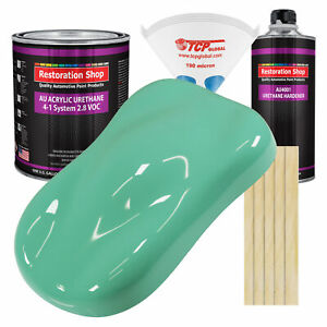 Light Aqua Gallon Kit Single Stage Acrylic Urethane Car Auto Body Paint Kit