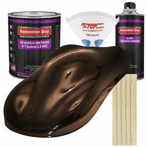 Mahogany Brown Metallic Gallon Kit Single Stage Acrylic Urethane Auto Paint Kit