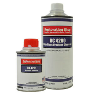 High Gloss Urethane Clearcoat Quart Kit For Basecoat Auto Paint System