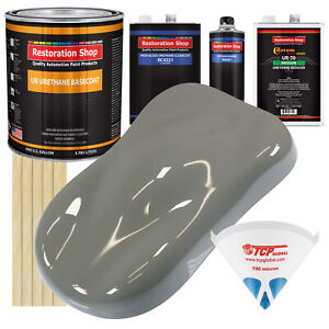 Dove Gray Gallon Urethane Basecoat Clearcoat Car Auto Paint Kit