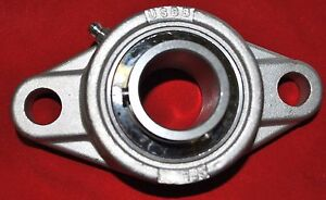 1 2 Stainless Steel 2 Bolt Flange Sucsfl201 8 Oval Flange Bear