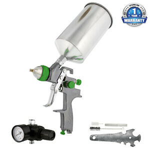 Pro 2 0mm Hvlp Gravity Feed Spray Gun Air Regulator Auto Paint Primer Prime Car
