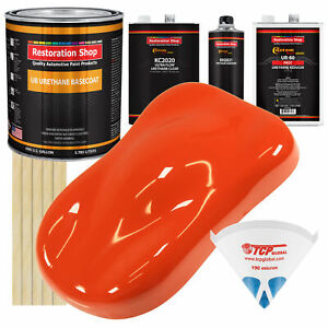 Charger Orange Gallon Urethane Basecoat Clearcoat Auto Paint Fast Kit