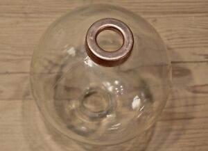 Clear Glass Lightning Rod Ball Weathervane Old Vintage 5 Tall With New End Caps