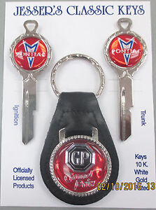 Red Pontiac Grand Prix B 10 Deluxe White Gold Classic Key Set Nos Keys 1935 1966
