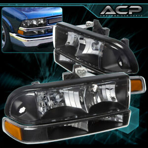 1998 2004 Chevrolet S10 Blazer Replacement Front Black Headlight Bumper Signal