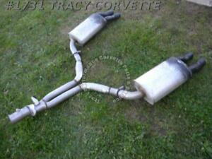 1986 1990 C4 Corvette Nos Rear Exhaust Y Pipe W mufflers Not Exact For All Years